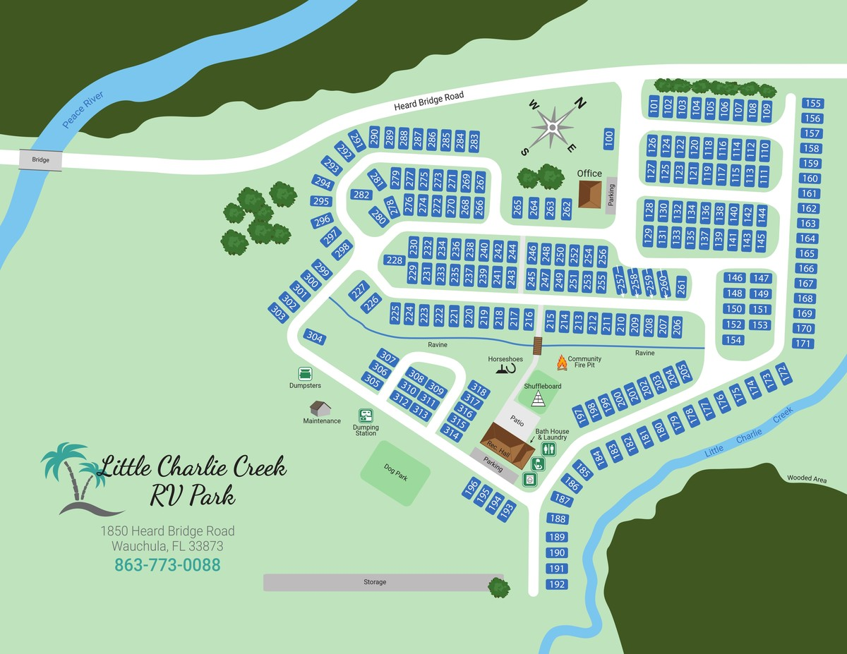 Little Charlie Creek RV Park Map (New)